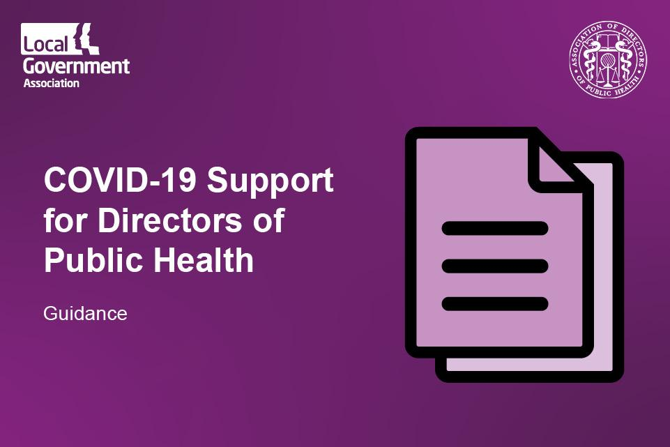 COVID-19 peer support for directors of public health: testing, contact tracing and outbreak management
