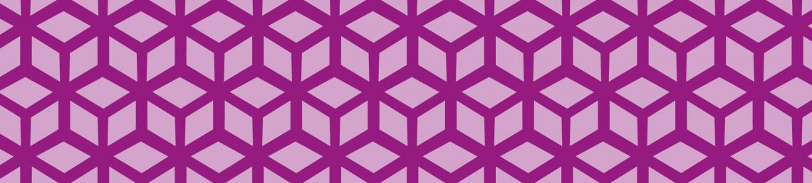 Decorative banner with abstract boxes in purple